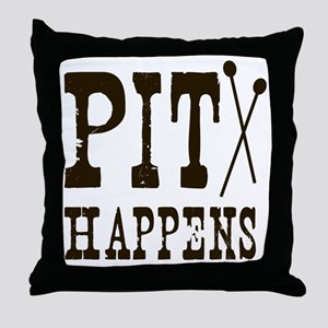 Pit Happens Throw Pillow