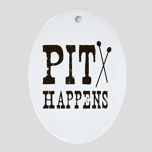 Pit Happens Ornament (Oval)