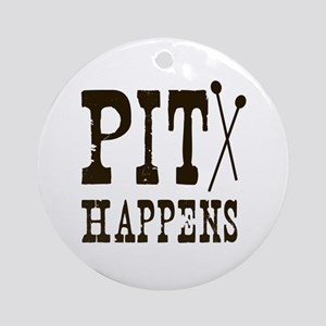 Pit Happens Ornament (Round)