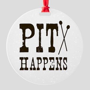 Pit Happens Round Ornament