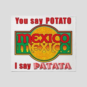 Potato Patata Throw Blanket
