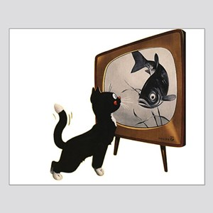 Black Cat and Fish Posters