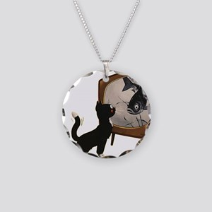 Black Cat and Fish Necklace