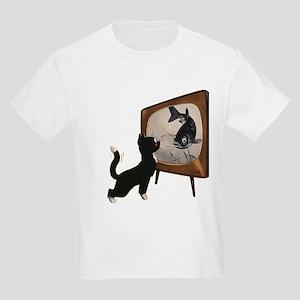 Black Cat and Fish T-Shirt