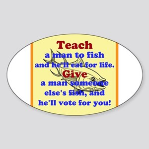 Teach a Man to Fish Sticker