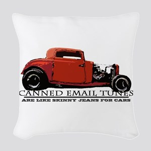 Canned Email Tunes Woven Throw Pillow