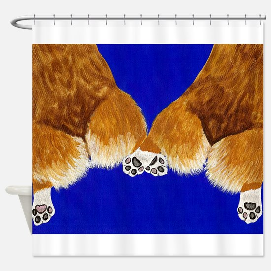 A tail of two corgis Shower Curtain