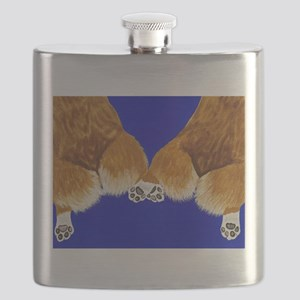 A tail of two corgis Flask