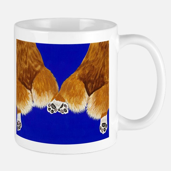 A tail of two corgis Mug