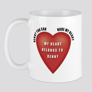 Denny Heart Mug