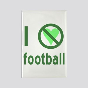 I Hate Football Rectangle Magnet