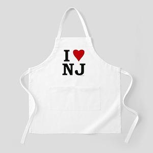 """I LOVE NJ"" BBQ Apron"