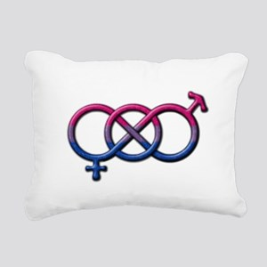 Bisexual Knot Rectangular Canvas Pillow