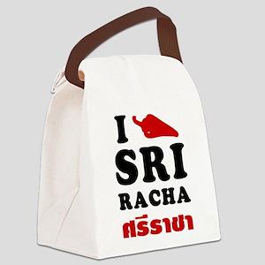 I Love Sriracha Canvas Lunch Bag