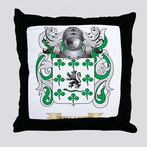 Gallagher Coat of Arms (Family Crest) Throw Pillow
