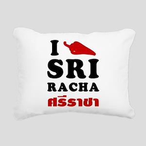 I Love Sriracha Rectangular Canvas Pillow