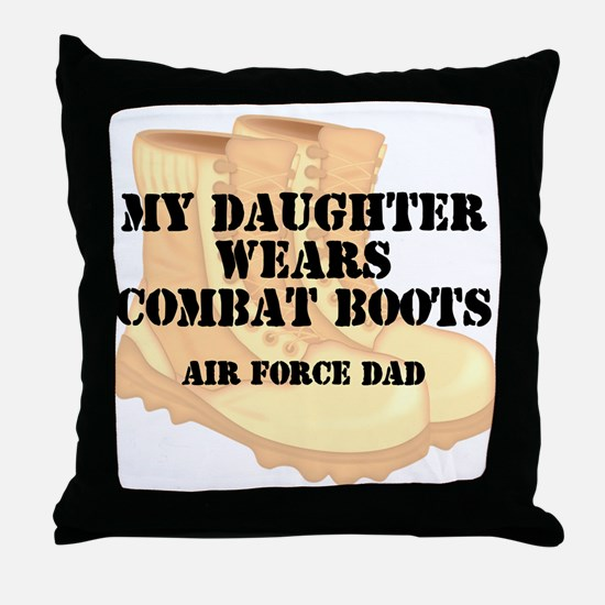 AF Dad Daughter DCB Throw Pillow