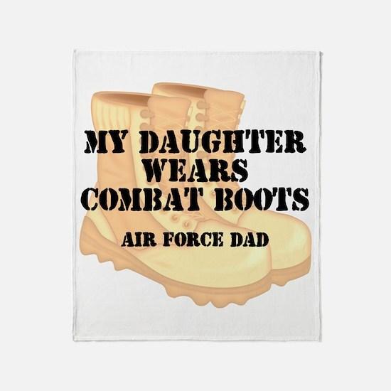 AF Dad Daughter DCB Throw Blanket