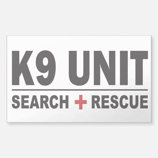 K9 Unit Search Rescue Decal