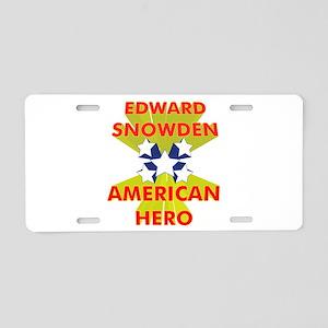 EDWARD SNOWDEN AMERICAN HERO Aluminum License Plat