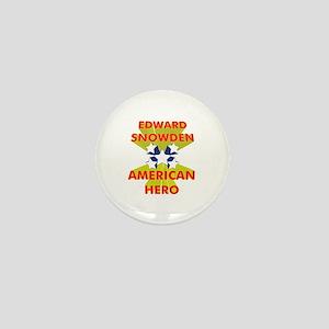 EDWARD SNOWDEN AMERICAN HERO Mini Button
