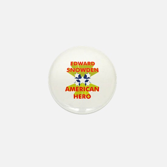 EDWARD SNOWDEN AMERICAN HERO Mini Button