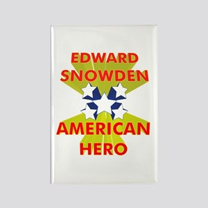 EDWARD SNOWDEN AMERICAN HERO Rectangle Magnet