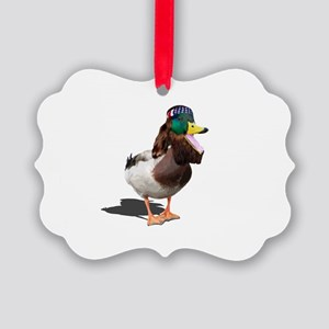 Dynasty Duck Picture Ornament