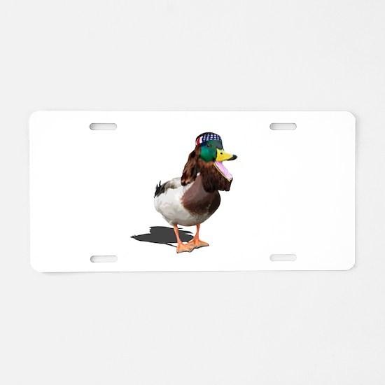 Dynasty Duck Aluminum License Plate