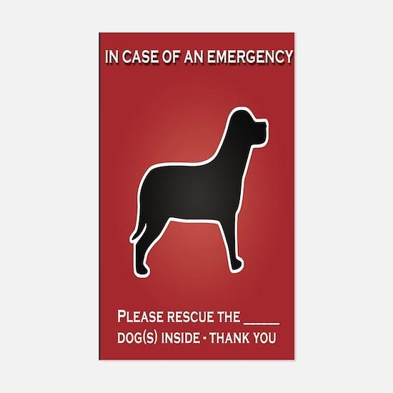 Dog Emergency Sticker Red