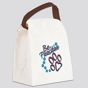 Be Pawsitive Canvas Lunch Bag