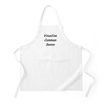 Visualize Common Sense BBQ Apron