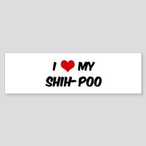 I Love: Shih-Poo Bumper Sticker