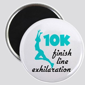 10K Aqua Finish Line Magnet