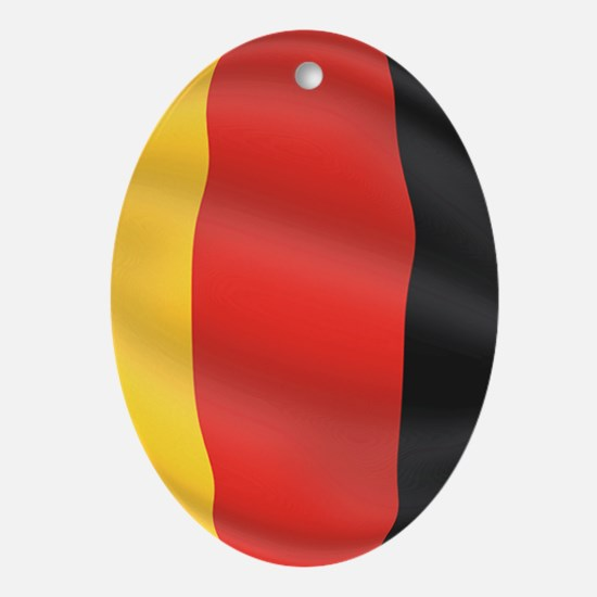 Pure Flag of Germany Oval Ornament