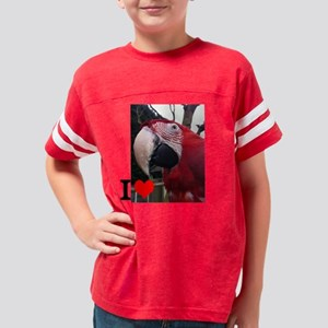 I love parrotts Youth Football Shirt