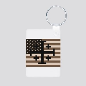 American Crusader Aluminum Photo Keychain