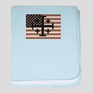 American Crusader baby blanket