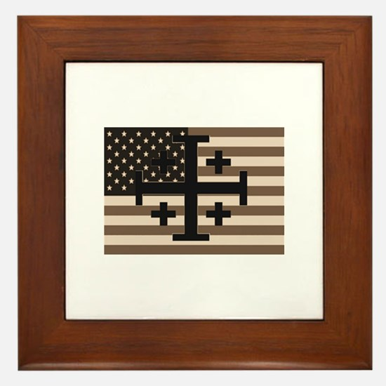 American Crusader Framed Tile