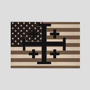 American Crusader Rectangle Magnet