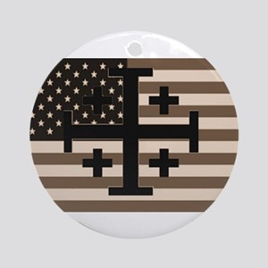American Crusader Ornament (Round)