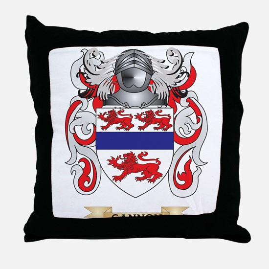 Gannon Coat of Arms (Family Crest) Throw Pillow