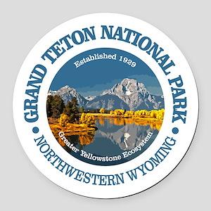 Grand Teton NP Round Car Magnet