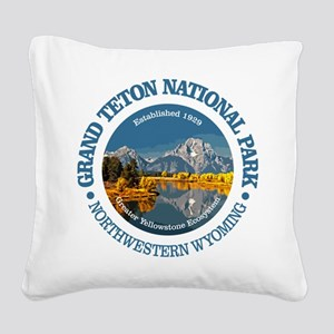 Grand Teton NP Square Canvas Pillow