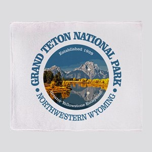 Grand Teton NP Throw Blanket