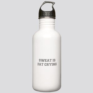 sweat-is-just-fat-crying-6-fresh-gray Water Bottle