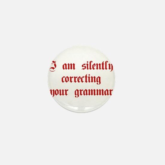 I-am-silently-grammar-plaing-brown Mini Button