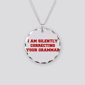 I-am-silently-grammar-fresh-brown Necklace