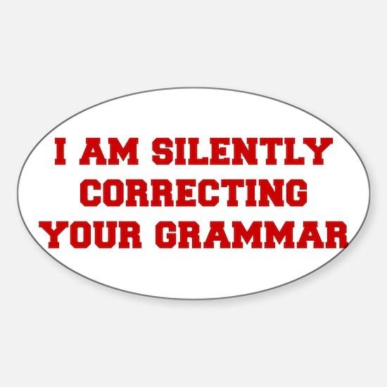 I-am-silently-grammar-fresh-brown Decal