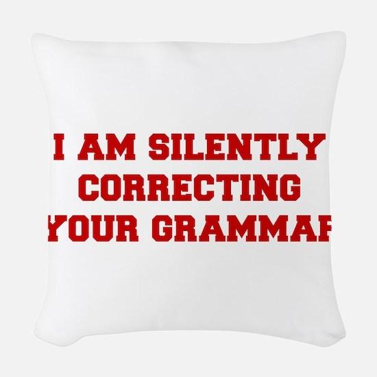 I-am-silently-grammar-fresh-brown Woven Throw Pill